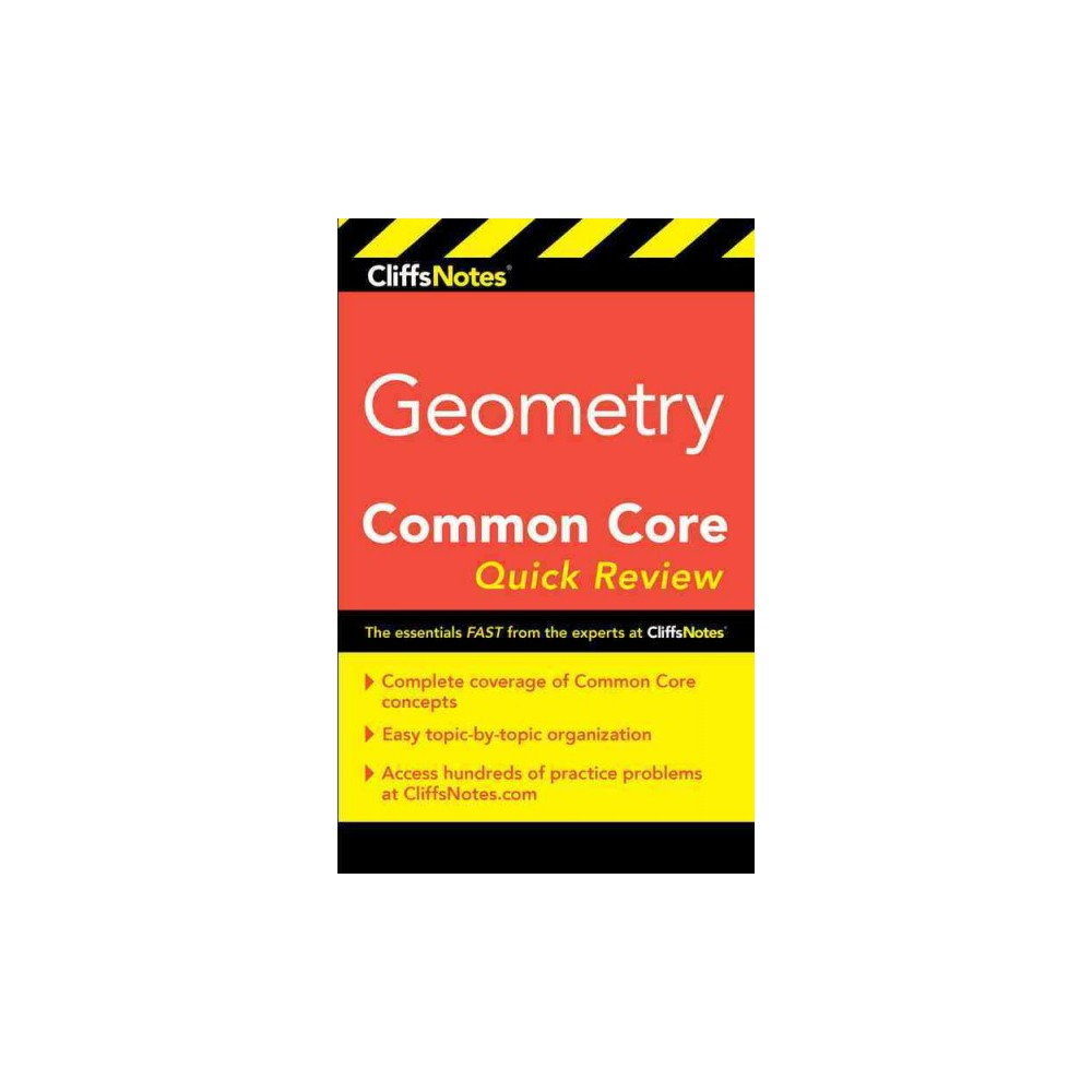 Cliffsnotes Geometry Common Core Quick Review - New by M. Sunil R. Koswatta (Paperback)