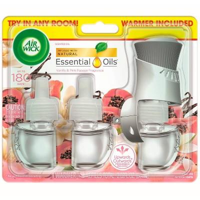 Air Wick Scented Oil Starter Kit 1+3 Vanilla & Pink Papaya - 2.01 fl oz