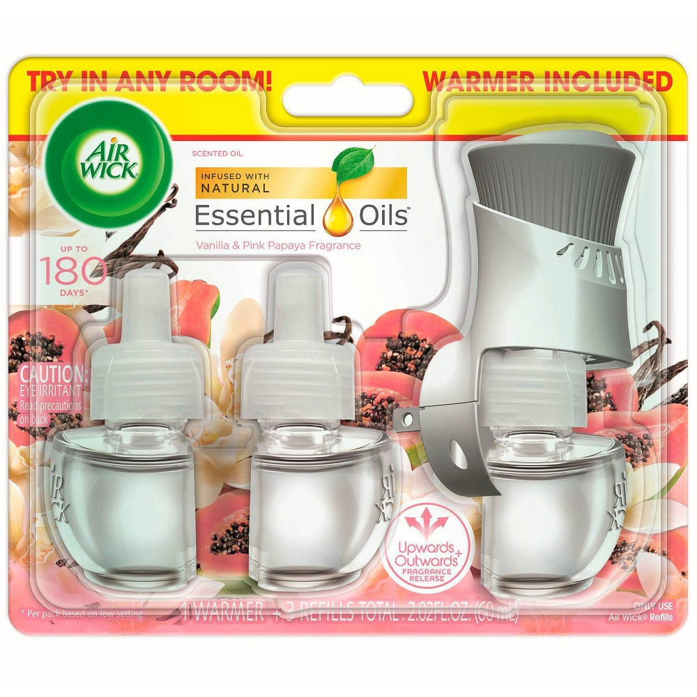 Air Wick Scented Oil Starter Kit 1+3 Vanilla & Pink Papaya - 1 fl oz