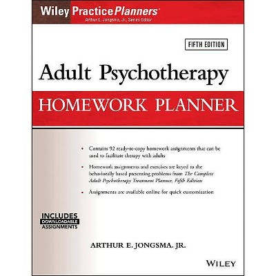 Adult Psychotherapy Homework Planner - (PracticePlanners) 5th Edition by  David J Berghuis (Paperback)