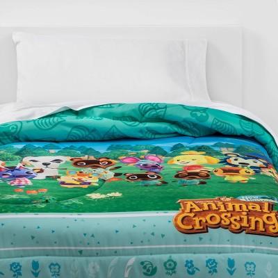 Twin Animal Crossing DIY Paradise Comforter