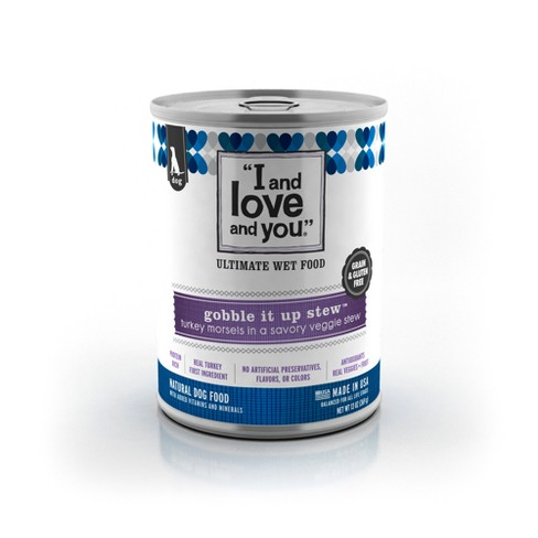 I and Love and You Gobble It Up Stew Turkey + Veggie Wet Dog Food - 13oz/12pk - image 1 of 3