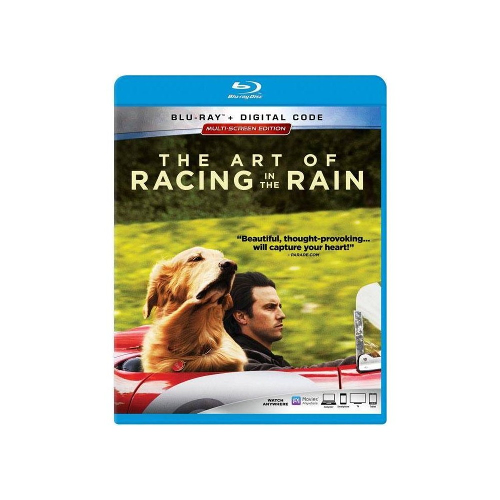 The Art Of Racing In The Rain (Blu-Ray + Digital) Based on the best-selling novel by Garth Stein, THE ART OF RACING IN THE RAIN is a heartfelt tale narrated by a witty and philosophical dog named Enzo (voiced by Kevin Costner). Through his bond with his owner, Denny Swift (Milo Ventimiglia), an aspiring Formula One race car driver, Enzo has gained tremendous insight into the human condition and understands that the techniques needed on the racetrack can also be used to successfully navigate the journey of life. The film follows Denny and the loves of his life - his wife, Eve (Amanda Seyfried), their young daughter Zoe (Ryan Kiera Armstrong), and ultimately, his true best friend, Enzo.