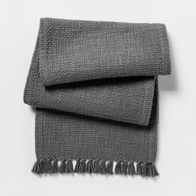 Gray Basket Weave Table Runner - Threshold™