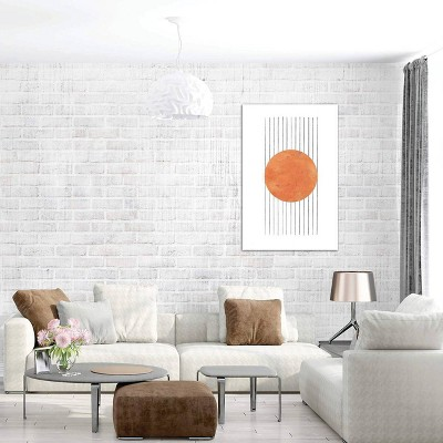 Burnt Abstract by Whales Way Unframed Wall Canvas Print Orange - iCanvas