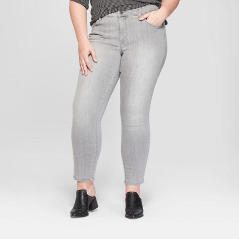 76a4d0d1b3b7b Women's Plus Size Skinny Jeans - Universal Thread™ Gray Wash : Target