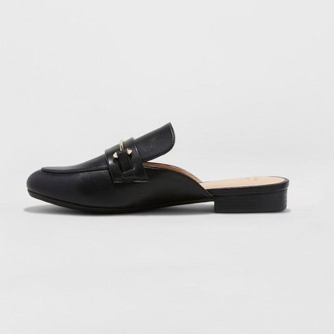 7bc59913c Women's Remmy Backless Loafers - A New Day™ Black : Target