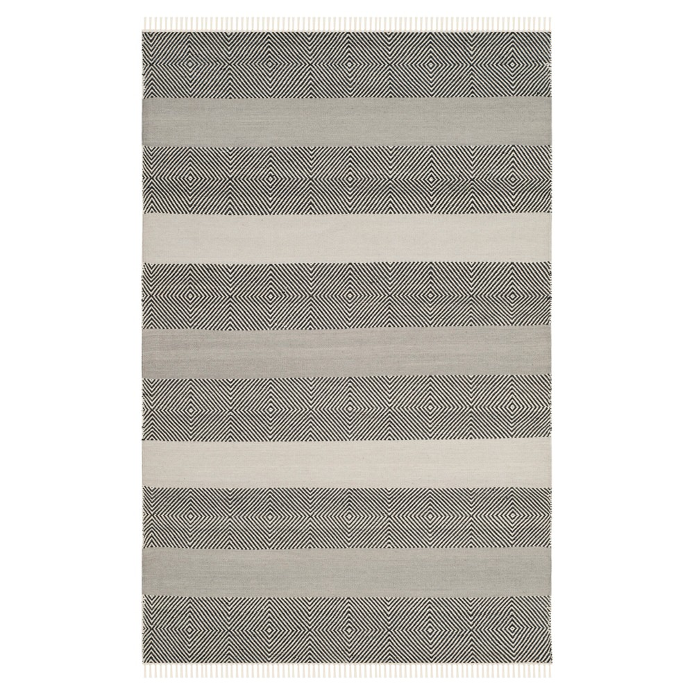 Kilim Rug - Gray/Black - (4'x6') - Safavieh