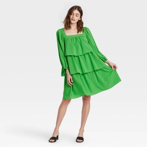 Women's Balloon Long Sleeve Dress - Who What Wear™ - image 1 of 3