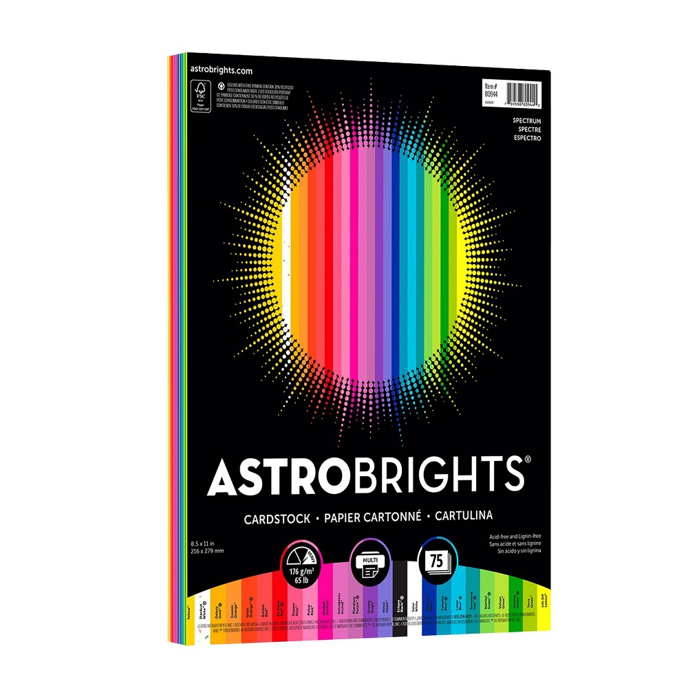 Image of Astrobrights 75ct Cardstock Printer Paper
