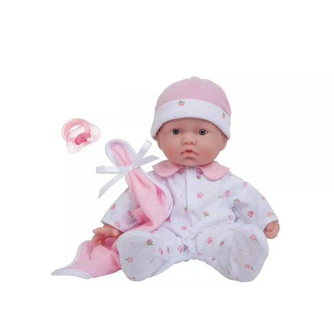 "JC Toys La Baby 11"" Soft Body Baby Doll - Pink - image 1 of 4"