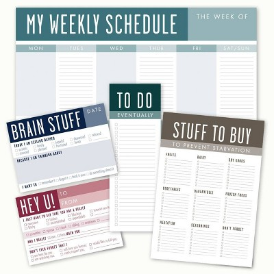 Stuff To Do Weekly Post-it Notepad Set - Canopy Street