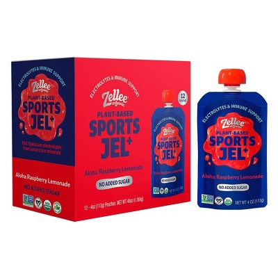 Zelle Organic Sports Jel+ Aloha Raspberry Lemonade - 48oz/12ct