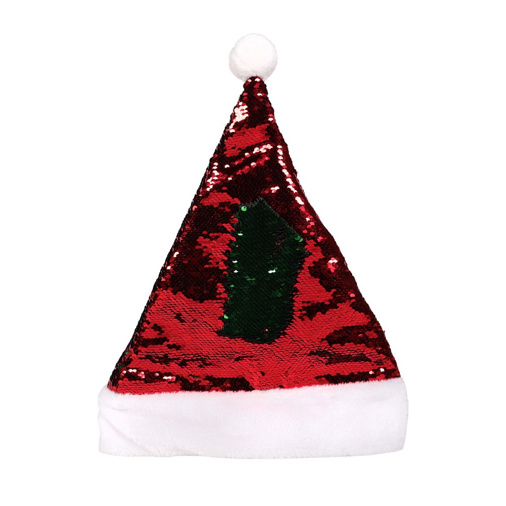 Red Reversible Sequin Santa Hat - Wondershop
