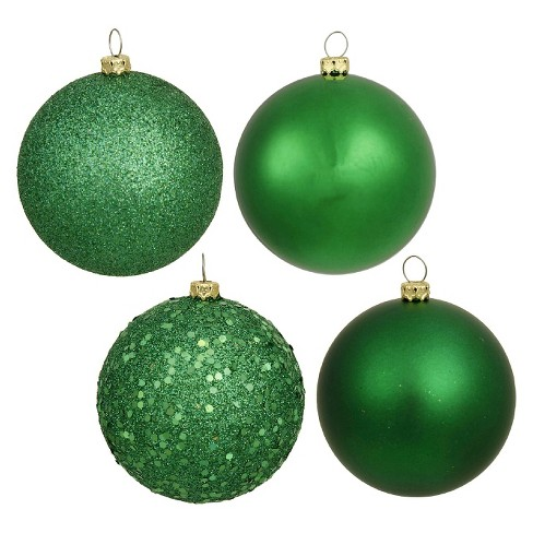 24ct Green Assorted Finishes Christmas Ornament Set - image 1 of 1