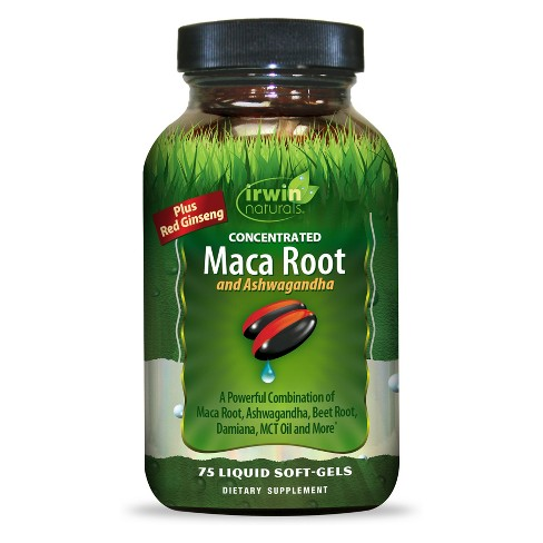 Irwin Naturals Maca Root & Ashwagandha Dietary Supplement Softgels - 75ct