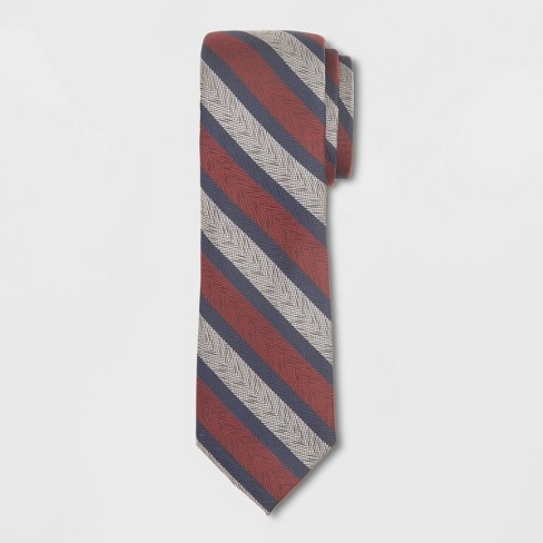 Men's Striped Tie - Goodfellow & Co™ Berry Blush One Size - image 1 of 1