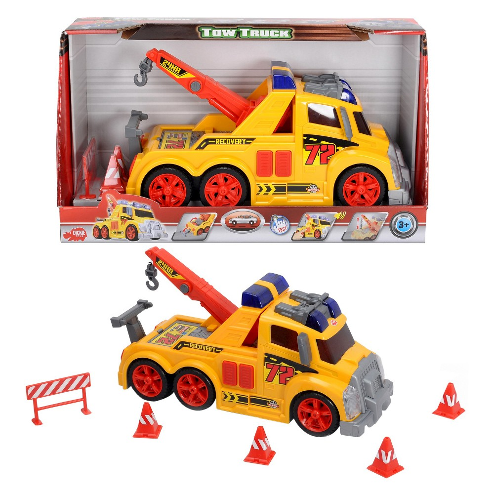 Dickie Toys Majorette Action Series Tow Truck and Accessories