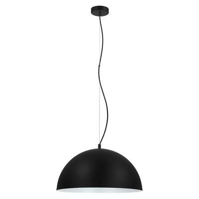 """21"""" 1-Light Rafaelino Bowl Pendant with Shade Black/White - EGLO"""