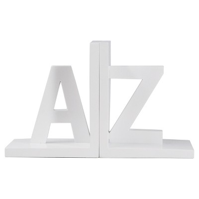 A-Z Bookends, White - Room Essentials™