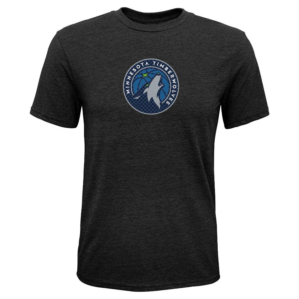 Minnesota Timberwolves Boys' Buzzer Beater Gray Performance T-Shirt L, Multicolored
