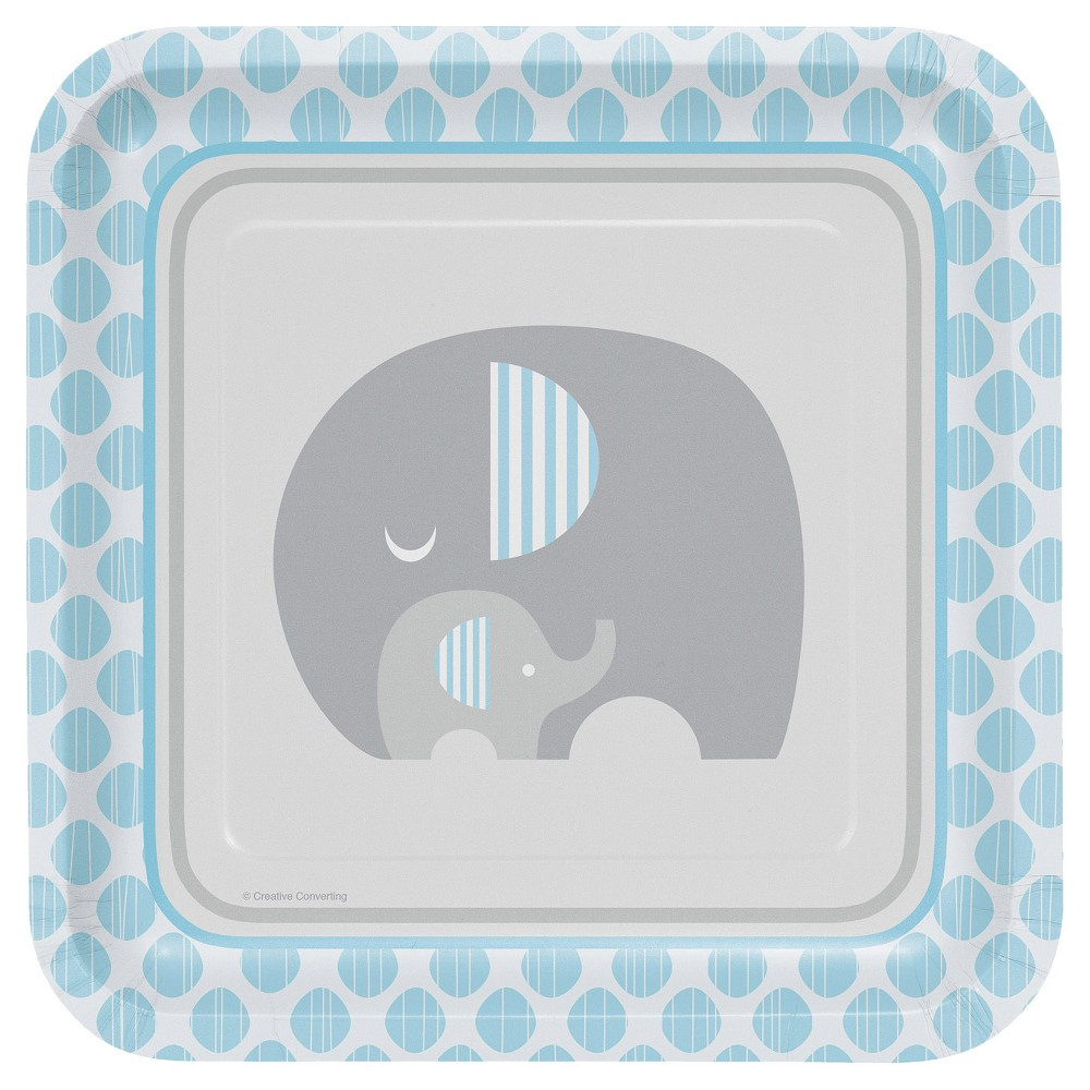 Little Peanut Boy Elephant 9 Paper Plates - 8ct