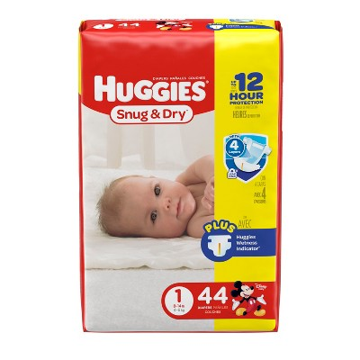 Huggies Snug & Dry Diapers - Size 1 (44ct)