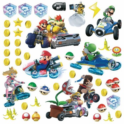 Ninetendo Mario Kart 8 Peel and Stick Wall Decal