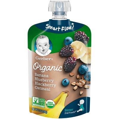 Gerber Organic 2nd Foods Banana Blueberry & Blackberry Oatmeal 3.5oz
