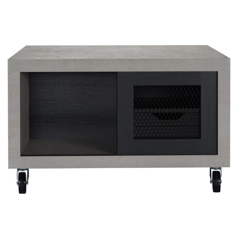Iohomes Rayna Industrial Coffee Table Black - HOMES: Inside + Out - image 1 of 4
