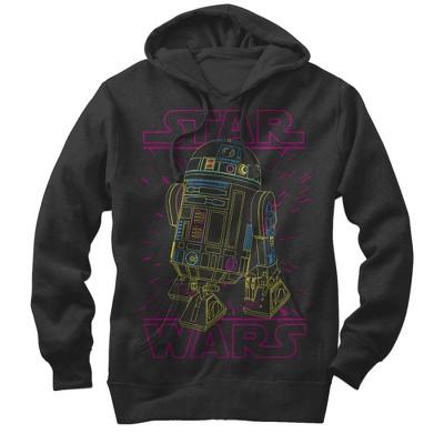 Men's Star Wars R2-D2 Lines Pull Over Hoodie