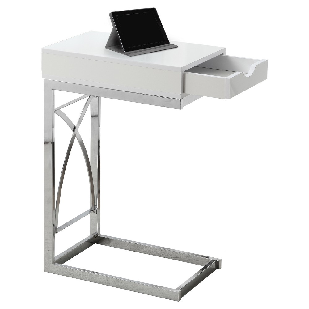 Accent Table With Drawer White Everyroom