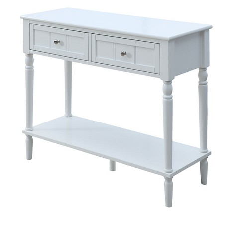 French Country Two Drawer Hall Table White - Johar Furniture : Target
