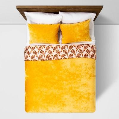 Amber Reversible Velvet Peacock Print Duvet & Sham Set - Opalhouse™