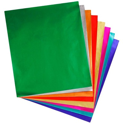 Hygloss Metallic Foil Paper, 8-1/2 x 10 Inches, Assorted Colors, 24 Sheets
