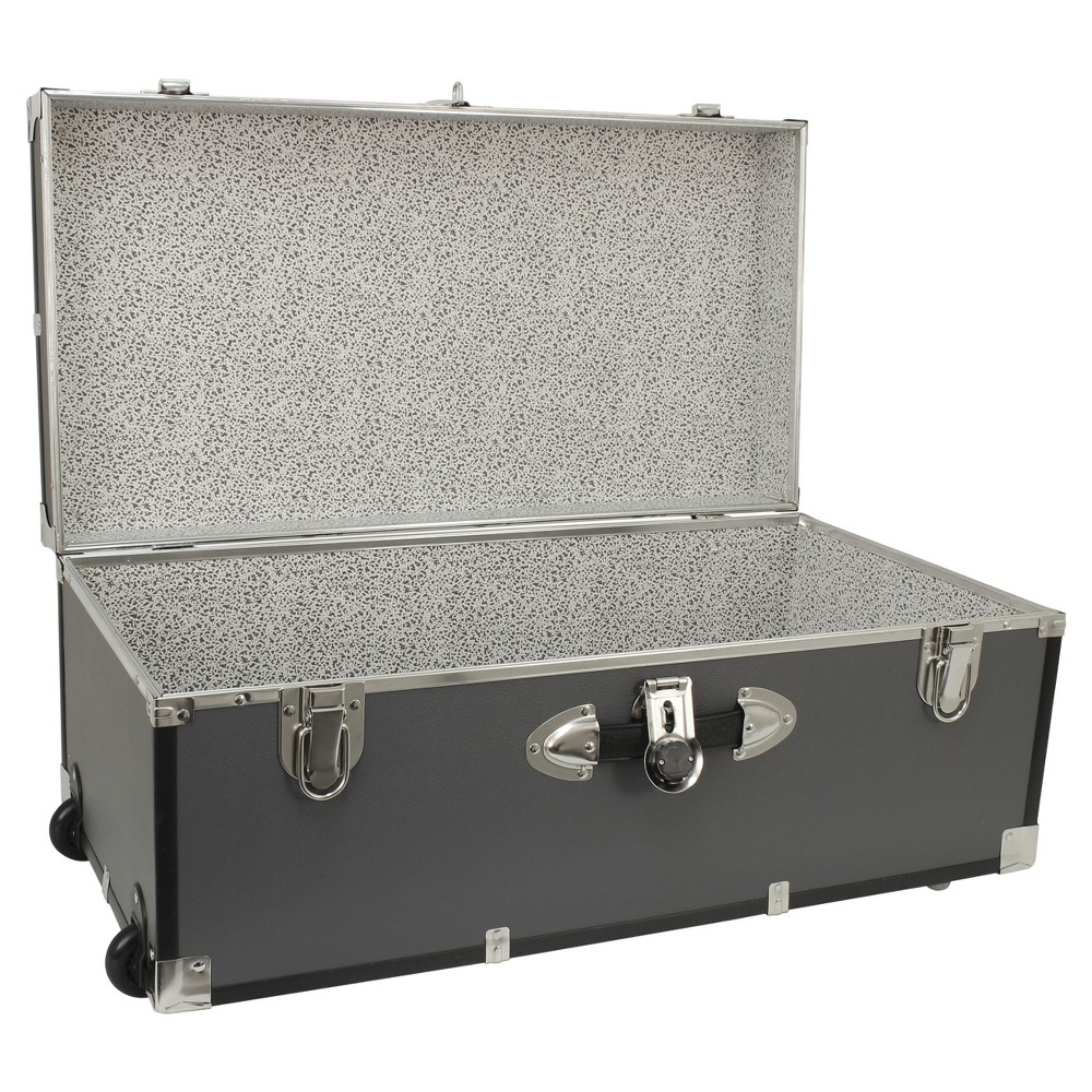 "Image of ""Advantus 30"""" Footlocker Storage Trunk With Wheels Gray"""