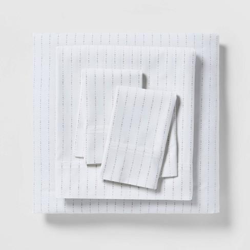 300 Thread Count Organic Cotton Printed Sheet Set - Threshold™ - image 1 of 4