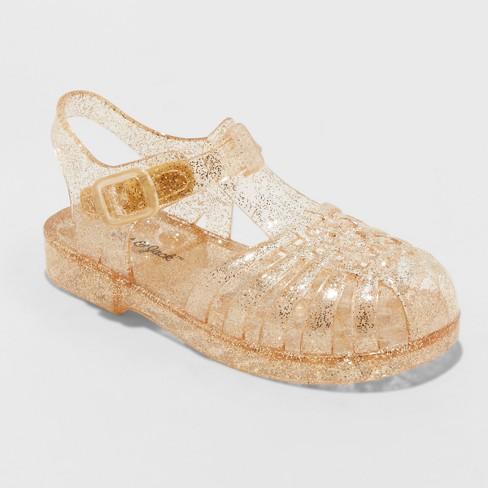 a932f3d2a1c8 Toddler Girls  Cappi Jelly Sandals - Cat   Jack™ Gold L   Target