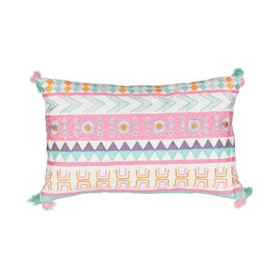 "14""x20"" La La Llama Embroidered Throw Pillow - Waverly Kids"