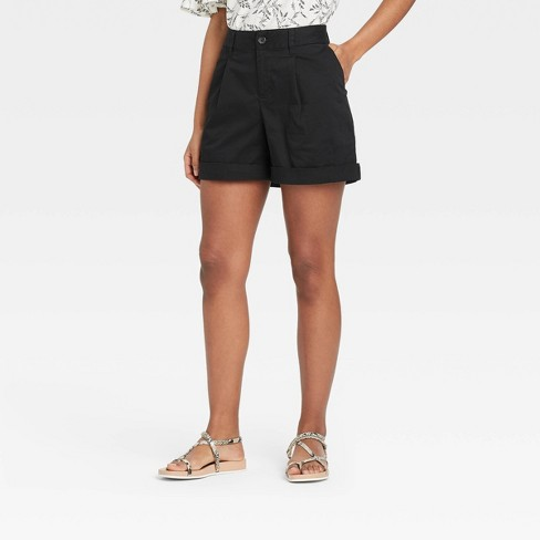 Women's Pleat Front Shorts - A New Day™ - image 1 of 3