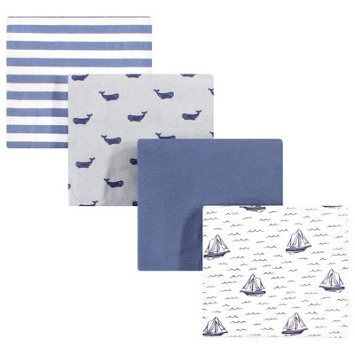 Hudson Baby Infant Boy Cotton Flannel Receiving Blankets, Sailboat, One Size