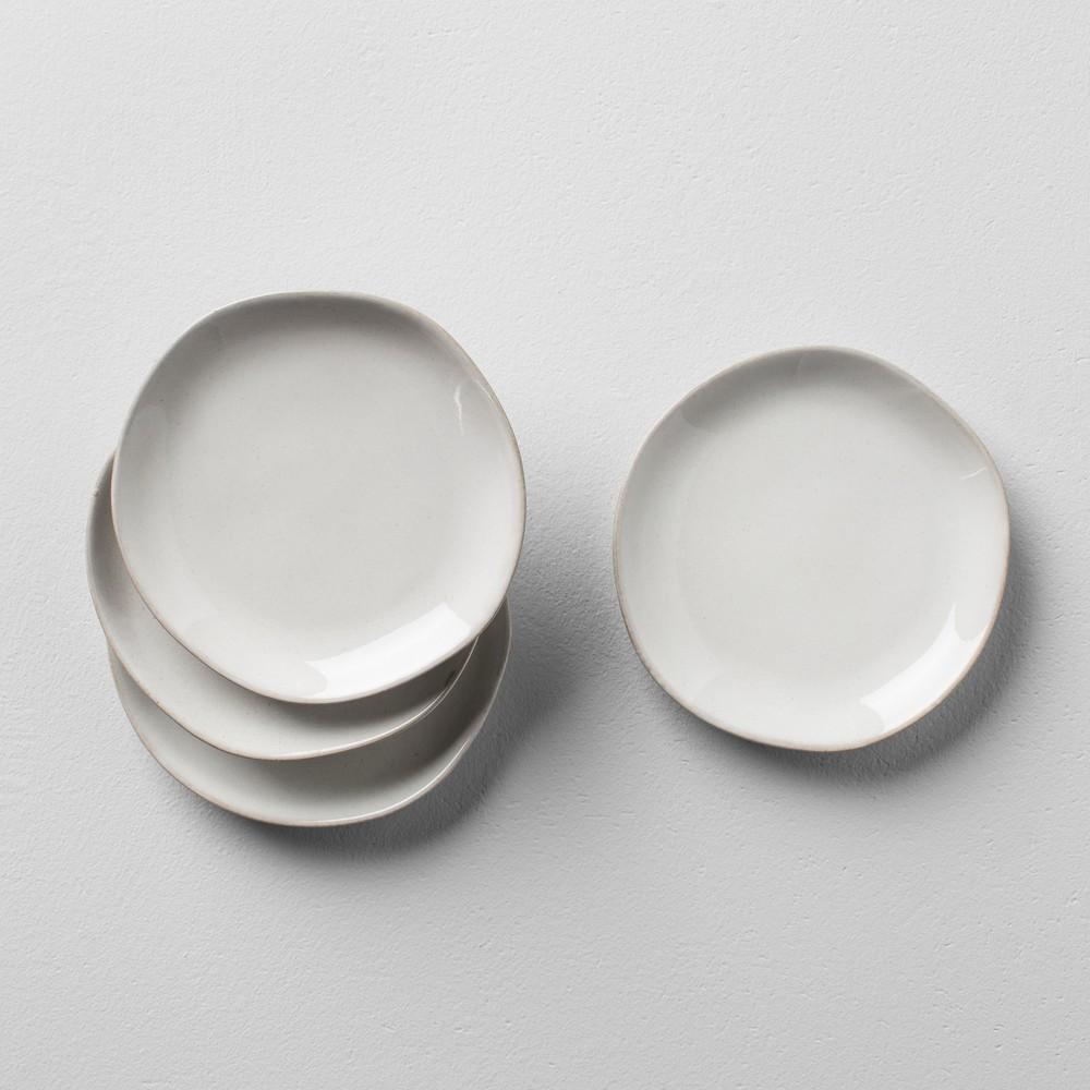 Stoneware Bread Plate Set of 4 - Cream (Ivory) - Hearth & Hand with Magnolia