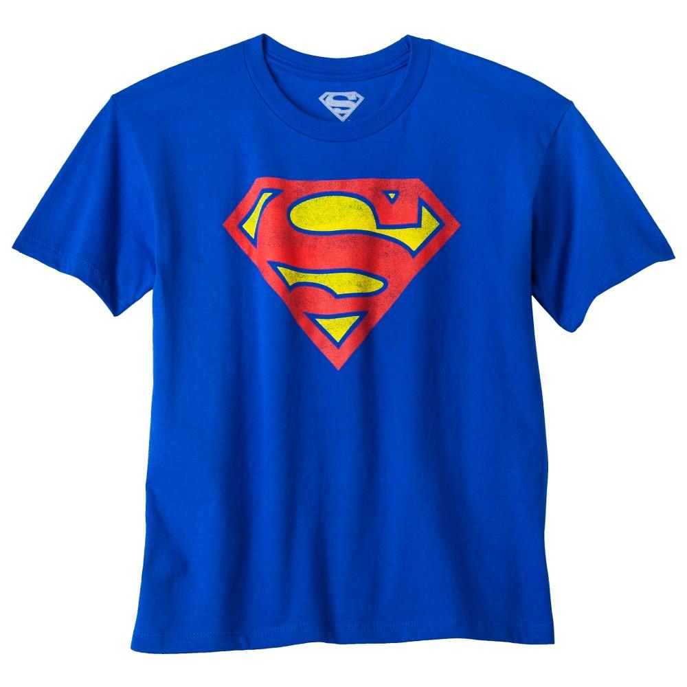 Image of petiteBoys' Superman Logo Graphic Short Sleeve T- Shirt - Royal Blue XXL, Boy's