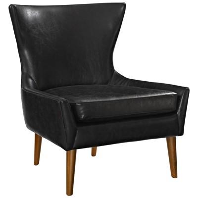 Keen Upholstered Vinyl Armchair - Modway