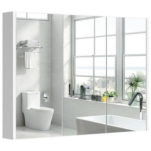 36 Wide Wall Mount Mirrored Bathroom Medicine Cabinet Triple Mirror Door Target