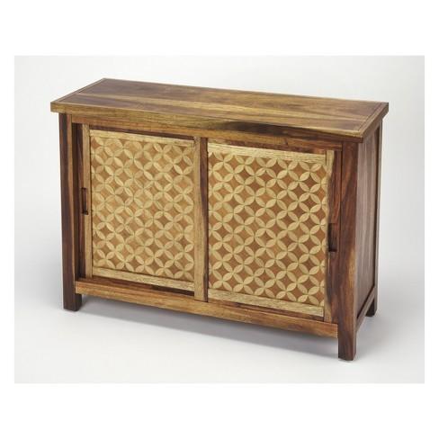 Harlow Solid Wood Console Cabinet Butler Loft Light Oak Butler