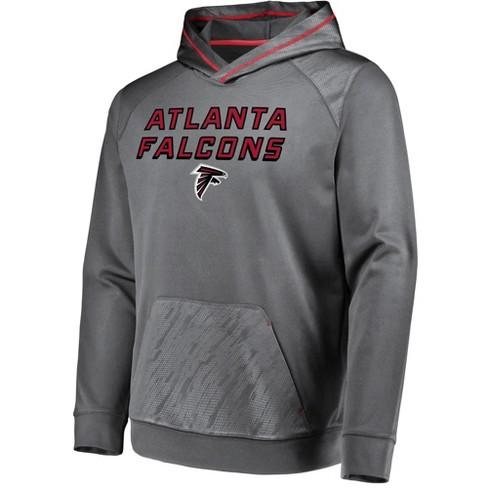 d18d2bd8 NFL Atlanta Falcons Men's Geo Fuse Gray Embossed Performance Hoodie