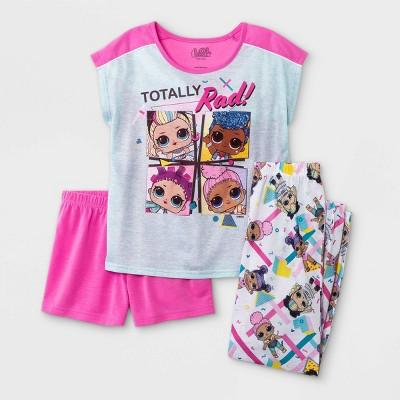 Girls' L.O.L. Surprise! 3pc Pajama Set - Pink