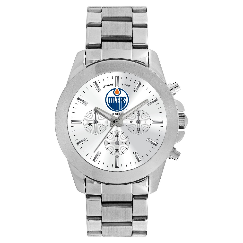 Women's Game Time NHL Knockout Sports Watch - Silver - Edmonton Oilers