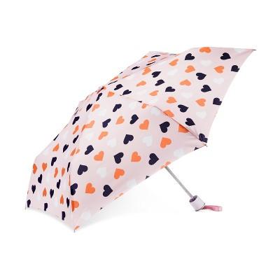 Cirra by ShedRain Hearts Compact Umbrella - Light Pink
